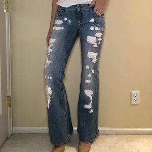D&G Low Flare Distressed Jeans Dolce and Gabbana